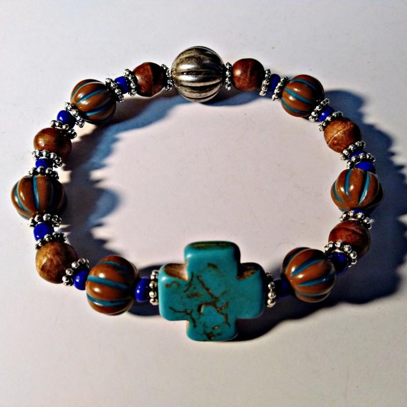 Brown Blue Bracelet