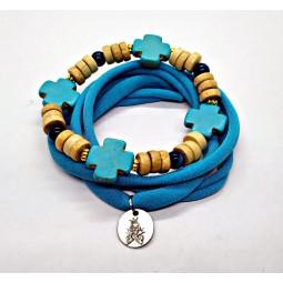 """Bracelet """"Ivory & Blue""""..."""